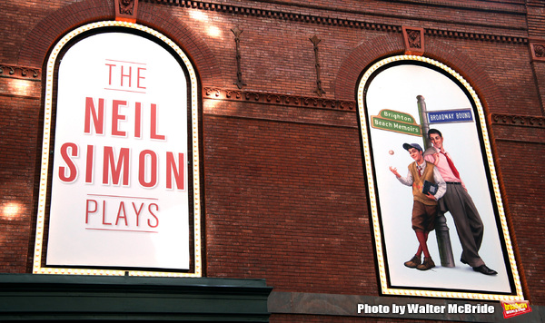 "Theatre Marquee for the Opening Night of Neil Simon's ""Bighton Beach Memoirs""  at the Nederlander Theatre in New York City. October 25, 2009 © Walter McBride /"