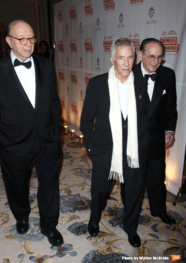 "Neil Simon, Burt Bacharach & Hal David.attending the After Party for the Opening Night Broadway performance  for ""PROMISES, PROMISES"" at the Plaza Hotel, New York City. April 25, 2010."