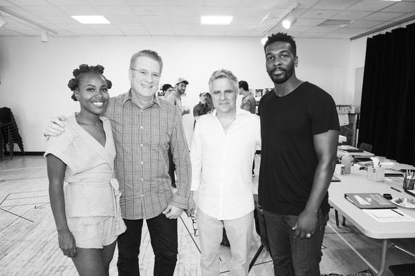 DeWanda Wise (Olivia), Jeffory Lawson (Managing Director), Neil Pepe (Artistic Director), Khris Davis (Charles)
