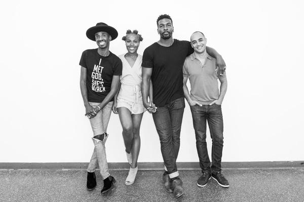 Donja R. Love (Playwright), DeWanda Wise (Olivia), Khris Davis (Charles) and Saheem Ali (Director)