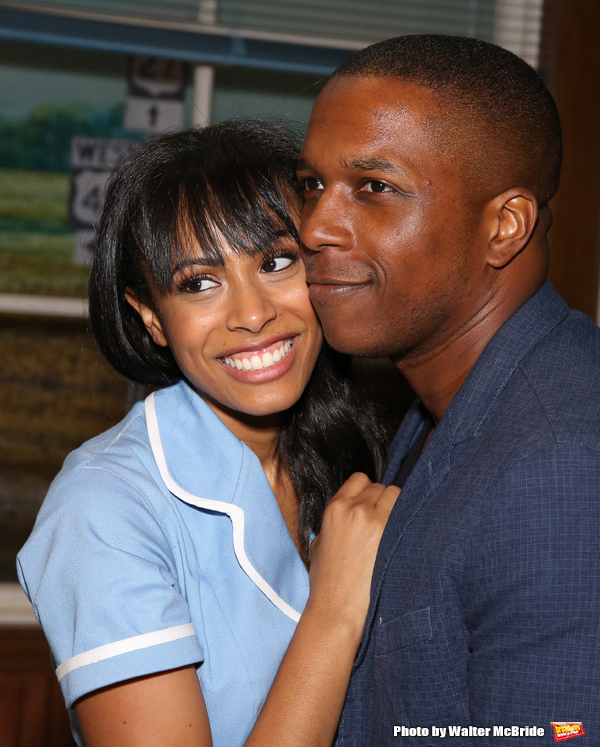 Nicolette Robinson and Leslie Odom, Jr.