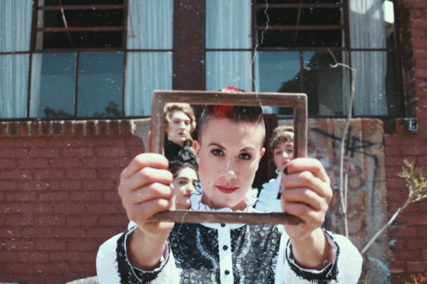 Framed.  L to R: Jenni Marie Lopez (Alice Russell), Brooke Van Grinsven (Emma Borden) Photo