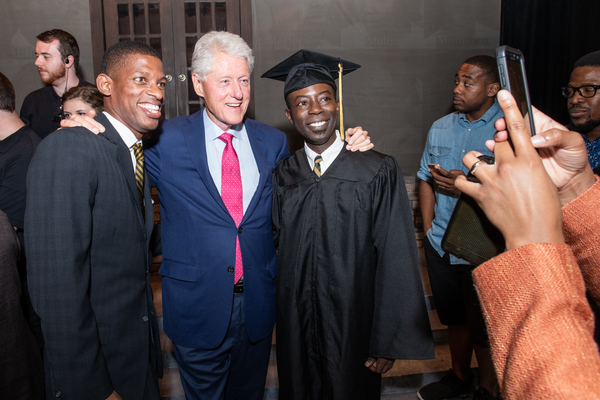 Damian Jermaine Thompson, President William Clinton, Charlie Hudson III Photo