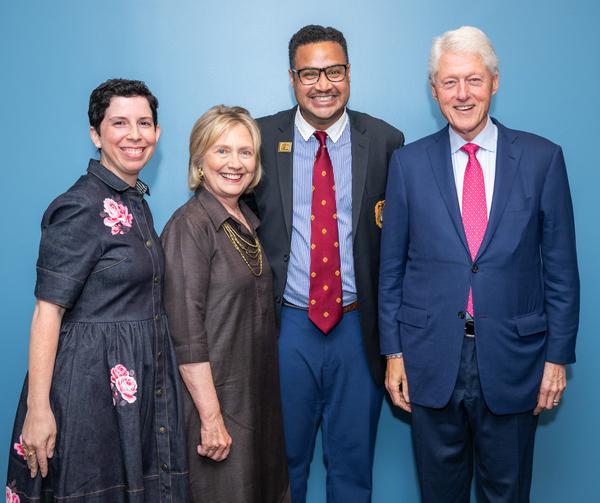Maria Benedetto, Secretary of State Hillary Rodham Clinton, Rajendra Ramoon Maharaj, President William Clinton