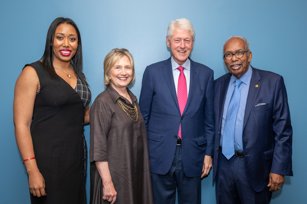 MacKenzie Green (daughter of Ernest Green), Secretary of State Hillary Clinton, President William Clinton, Ernest Green