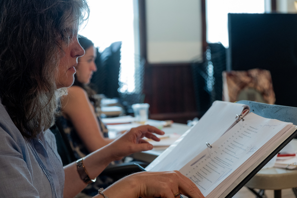 Photo Flash: In Rehearsal with the Company of DOWNSTATE at Steppenwolf Theatre Company