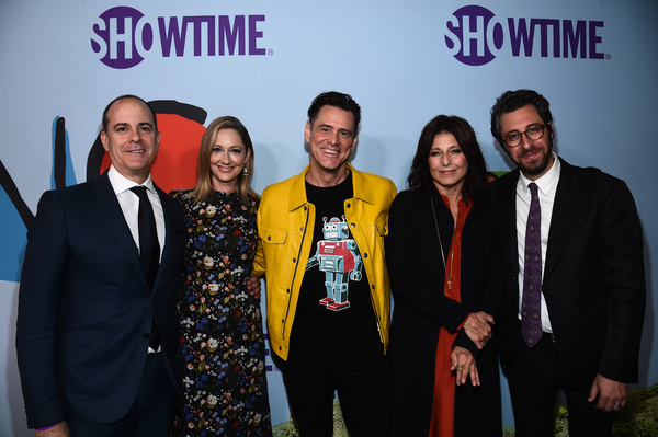 David Nevins, Judy Greer, Jim Carrey, Catherine Keener, and David Holstein  Photo