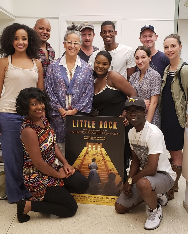 Gina Belafonte with the Cast of LITTLE ROCK