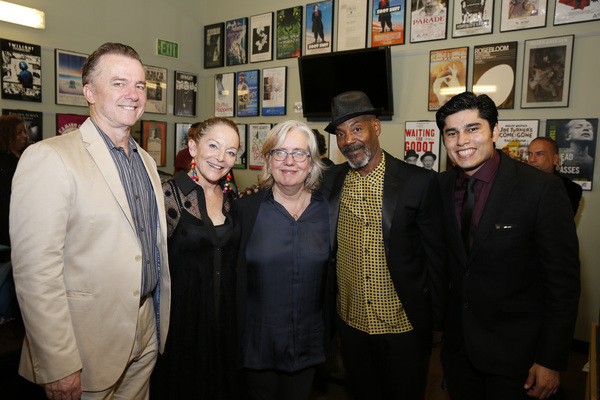 cast members Michael O'Keefe and Mary Mara, director Lisa Peterson and cast members John Earl Jelks and Peter Mendoza