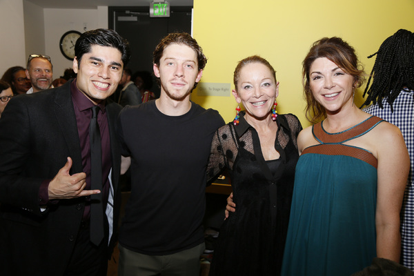 From left, cast members Peter Mendoza, Will Hochman, Mary Mara and Amy Pietz)