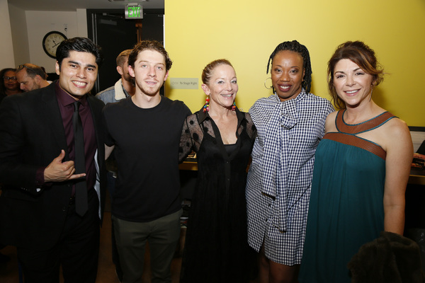 From left, cast members Peter Mendoza, Will Hochman, Mary Mara, Portia and Amy Pietz