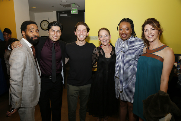 From left, cast members Kevin T. Carroll, Peter Mendoza, Will Hochman, Mary Mara, Portia and Amy Pietz