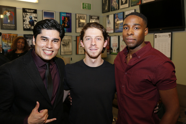 From left, cast members Peter Mendoza, Will Hochman and Grantham Coleman