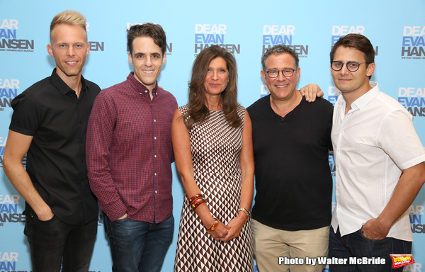 Creative Team: Justin Paul, Steven Levenson, Stacey Mindich, Michael Greif, and Benj Pasek