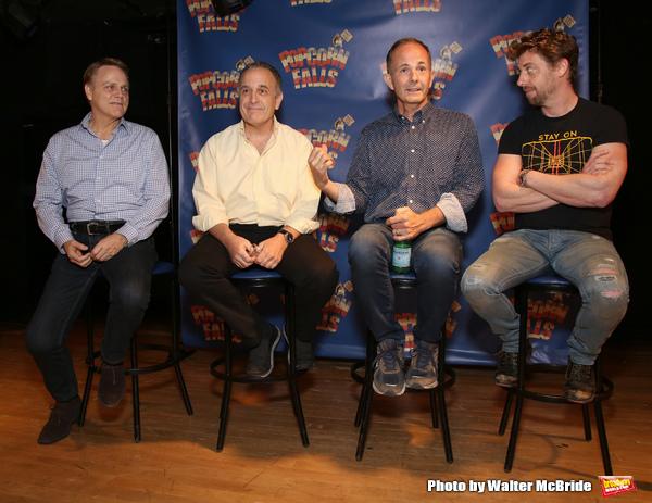 Tom Souhrada, Adam Heller, James Hindman and Christian Borle  Photo