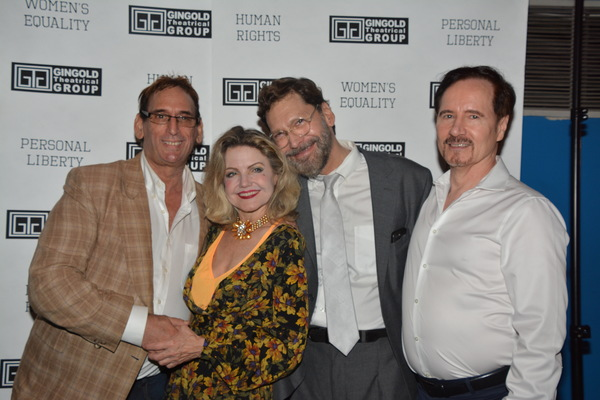 Paul Katz and Lloyd R. Walker with Allison Fraser and David Staller Photo
