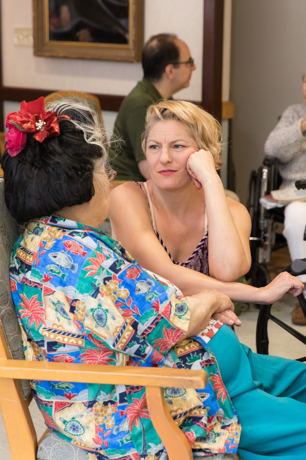 Photo Flash: Cast Members of CAROUSEL and MY FAIR LADY Perform For Seniors at the Actors Fund Home