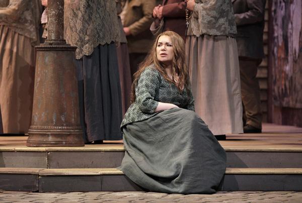 "Ekaterina Semenchuk as Santuzza in Mascagni's ""Cavalleria Rusticana."""