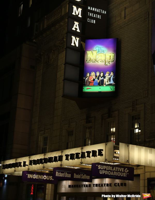 Theatre Marquee of Richard Bean's 'The Nap', directed by Daniel Sullivan at Manhattan Theatre Club's Samuel J. Friedman Theatre on September 7, 2018 at the Shubert Theatre in New York City.