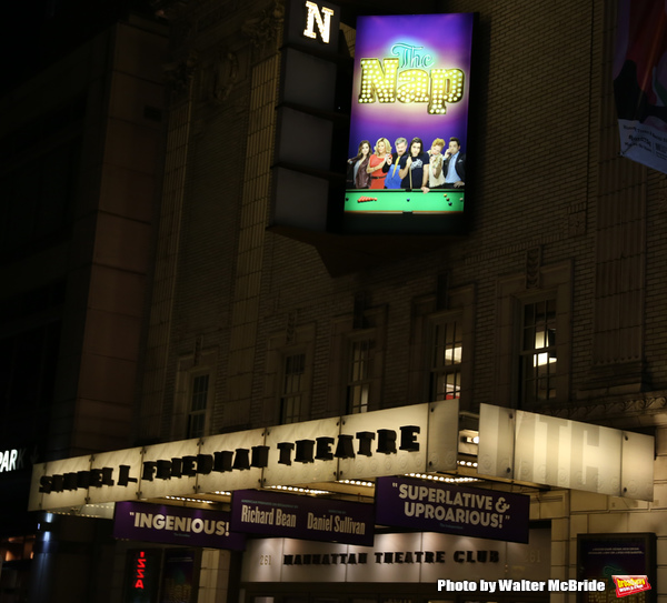 Theatre Marquee of Richard Bean's 'The Nap', directed by Daniel Sullivan at Manhattan Photo