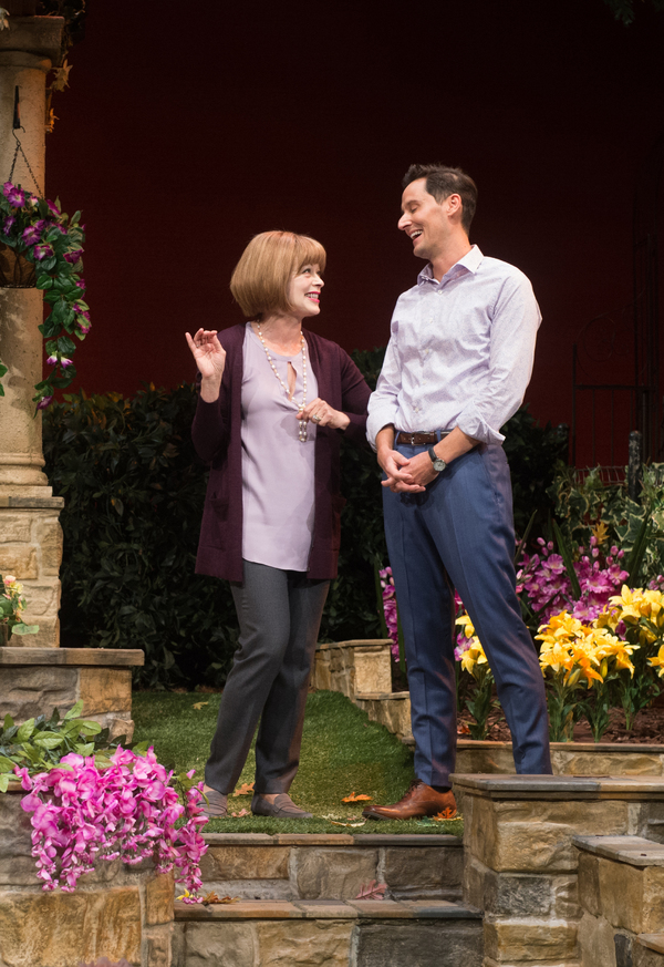 Frances Fisher and Christian Barillas in Native Gardens at Pasadena Playhouse. // Photo by Jenny Graham