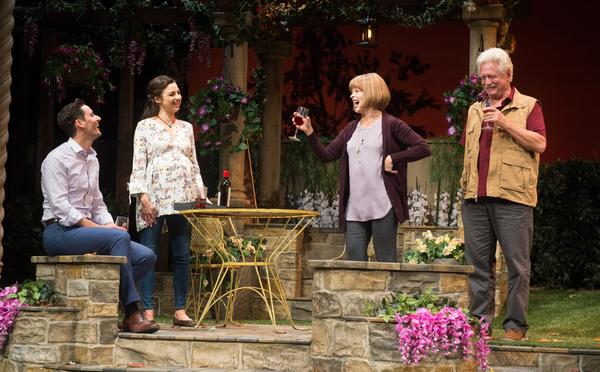 (L-R) Bruce Davison, Frances Fisher, Jessica Meraz and Christian Barillas in Native Gardens at Pasadena Playhouse. // Photo by Jenny Graham