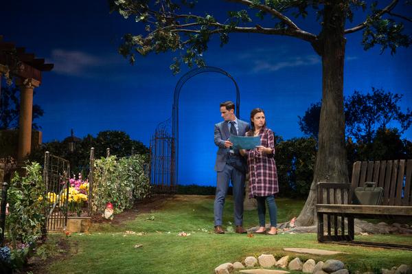 Christian Barillas and Jessica Meraz in Native Gardens at Pasadena Playhouse. // Photo by Jenny Graham