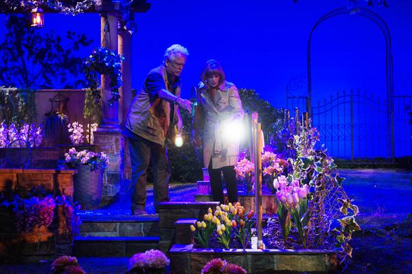 Bruce Davison and Frances Fisher in Native Gardens at Pasadena Playhouse. // Photo by Jenny Graham