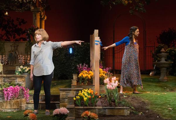 Frances Fisher and Jessica Meraz in Native Gardens at Pasadena Playhouse. // Photo by Jenny Graham