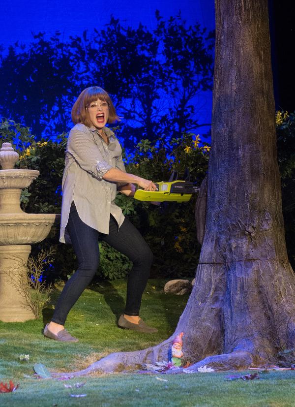 Frances Fisher as Virginia in Native Gardens at Pasadena Playhouse. // Photo by Jenny Graham