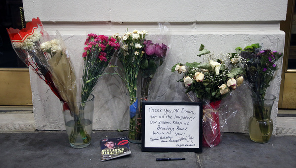 Neil Simon memorial tribute on September 8, 2018 at the Neil Simon Theatre in New York City.