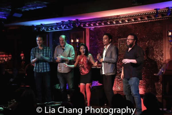 GETTIN' THE BAND BACK TOGETHER castmembers Rob Marnell, Paul Whitty, J. Elaine Marcos, Manu Narayan and Jay Klaitz