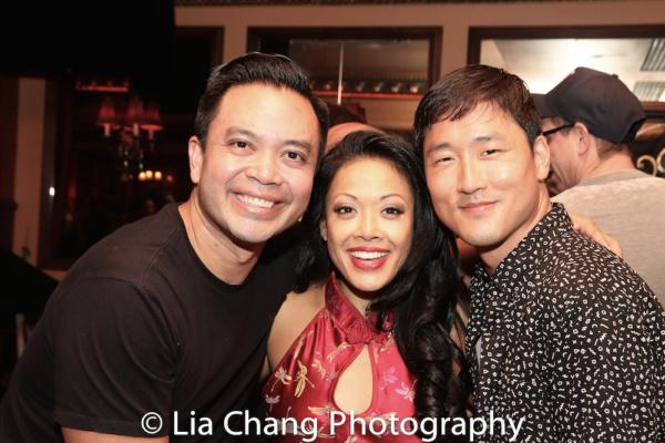 FLOWER DRUM SONG reunion Jose Llana, J. Elaine Marcos and Daniel May
