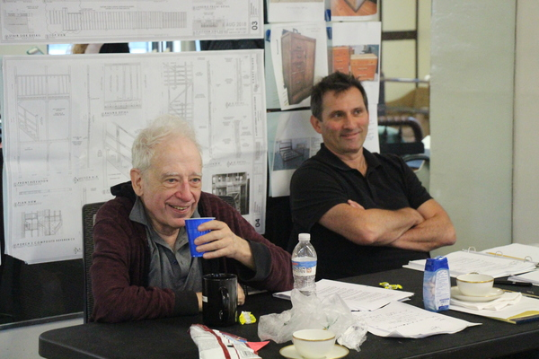 Director Austin Pendleton and Assistant Director Jonathan Mann