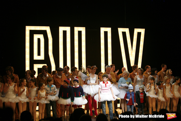 """Leah Hocking, Trent Kowalik, Hadyn Gwynne, Gregory Jbara, Carole Shelley, Santino Fontana & the ensemble cast.during the """"Billy Elliot - The Musical"""" Opening Night Performance Curtain Call at the Imperial Theatre in New york City..November 13, 2008."""