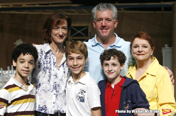 David Alvarez, Haydn Gwynne, Kiril Kulish, Greg Jbara, Trent Kowalik & Carole Shelley attending the  BILLY ELLIOT - The Musical  Meet & Greet the Press at the Little Shubert Theatre in New York City..July 28, 2008.