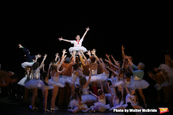 """Leah Hocking, Trent Kowalik, Hadyn Gwynne, Gregory Jbara, Carole Shelley, Santino Fontana & the ensemble cast during the """"Billy Elliot - The Musical"""" Opening Night Performance Curtain Call at the Imperial Theatre in New york City. November 13, 2008."""