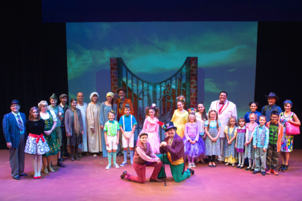 The cast of Roald Dahl's WILLY WONKA, playing at Wheaton Drama! Photo