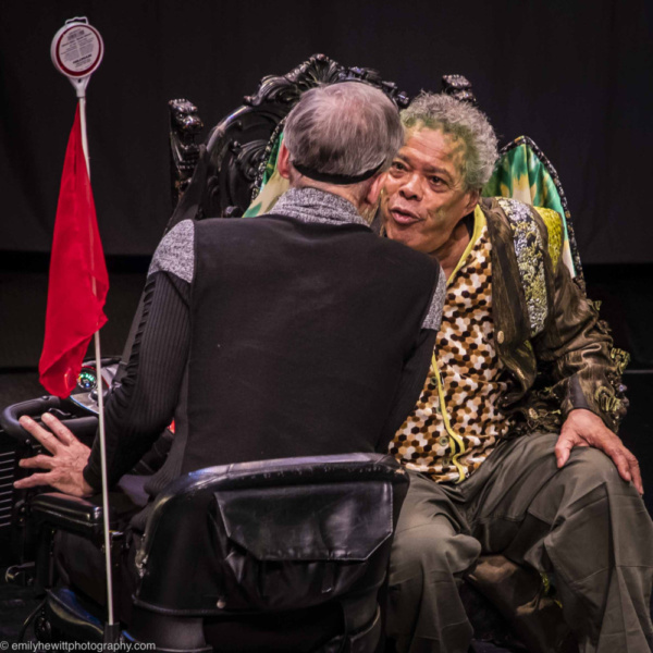 Steve Hauck and Charles Turner in Carrie Robbins 'The Dragon Griswynd.' at Theater for the New City and Artistic Director Crystal Fields' Dream Up Festival. Seats still available for the Wed 9/12 6:30