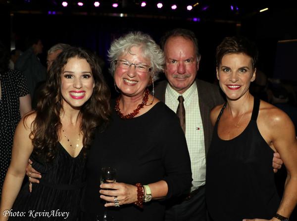 Chilina Kennedy, her parents, Jenn Colella