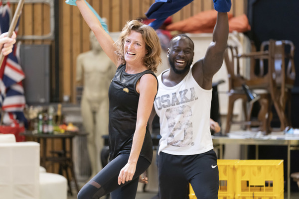 Photo Flash: In Rehearsal with Ralph Fiennes, Sophie Okonedo, and the Cast of ANTONY AND CLEOPATRA