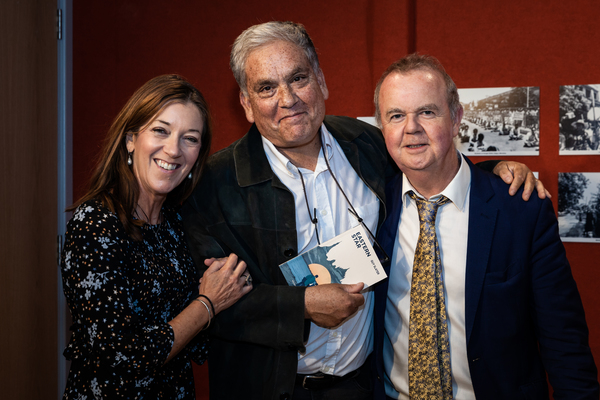 Victoria Hislop, Christopher Gunness and Ian Hislop