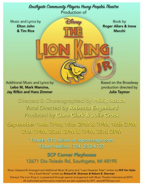 BWW Interview: Reece Culverhouse of DISNEY'S THE LION KING JR. at Southgate Community Players Young People's Theatre says It's all Fun and Family-Oriented!
