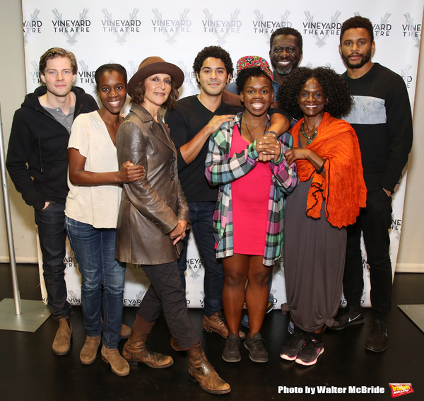 Hunter Parrish, director Awoye Timpo, Lisa Ramirez, Ian Quinlan, playwright and star Ngozi Anyanwu, Oberon K.A. Adjepong, Patrice Johnson Chevannes, and Nnamdi Asomugha