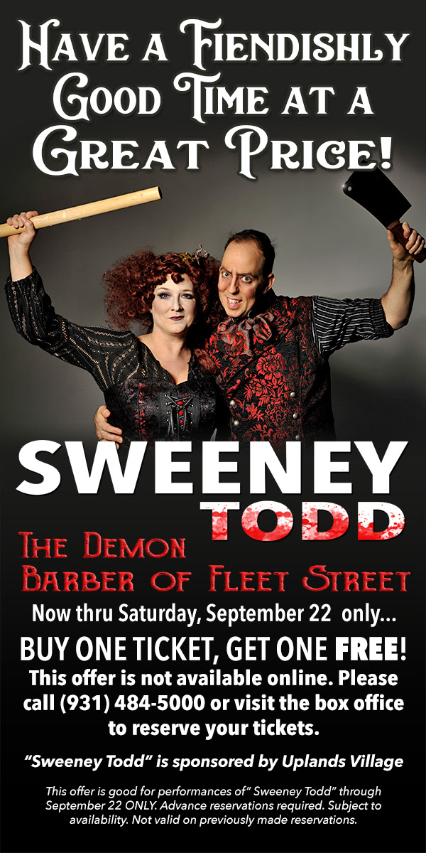 The Friday 5(+1): Brett Mutter of Cumberland County Playhouse's SWEENEY TODD