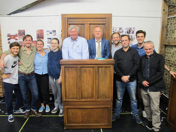 Ian Hislop, Nick Newman, and the cast of Trial By Laughter