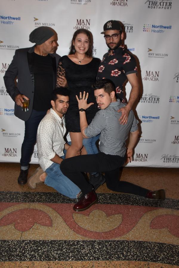 Leila Scandar (Assistant Stage Manager) with Enrique Cruz DeJesus, Cody Mowrey, Juan Luis Espnal and Diego Gonzalez