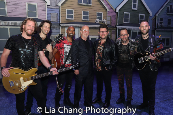 The Band; Mike, Justin Rothberg, Kevin Ramessar, Paul Shaffer, Sonny Paladino, Joe Bergamini and Mark.
