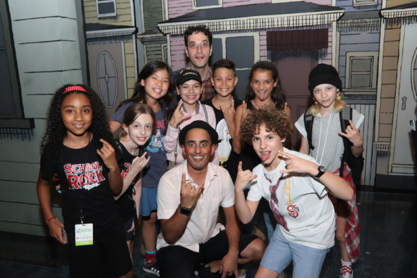 Nehal Joshi and cast members from THE SCHOOL OF ROCK