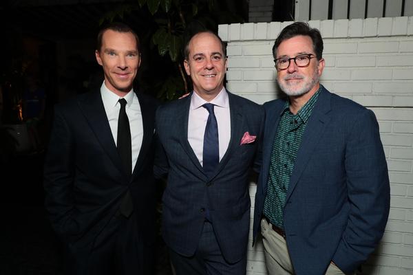 Benedict Cumberbatch, David Nevins and Stephen Colbert Photo